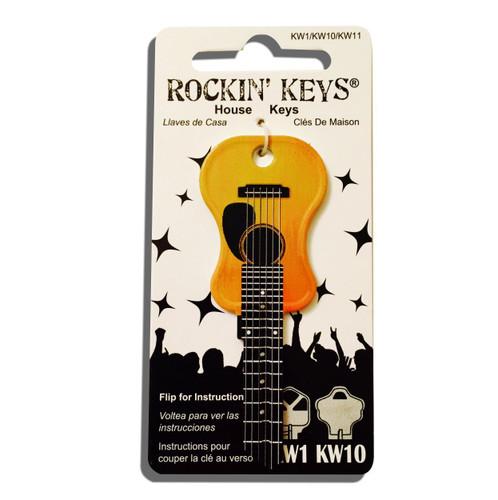 Rockin Key Blank, 5661-KW1 Acoustic Guitar