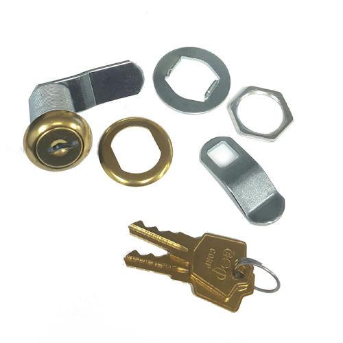 "ESP V375C8056 Polished Brass Cam Lock 1-3/8"",  Keyed Alike ES201"