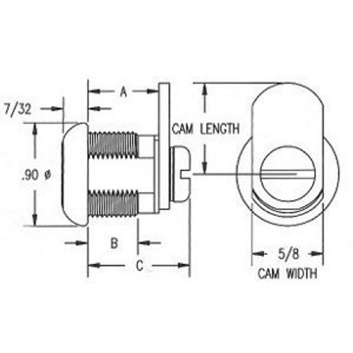 Cam Lock 7/16 KA Fixed Q520 KA ES203