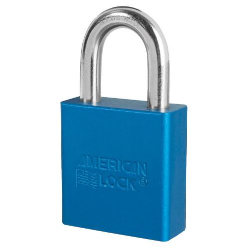 American Lock A1205 Blue Padlock, Factory Keyed