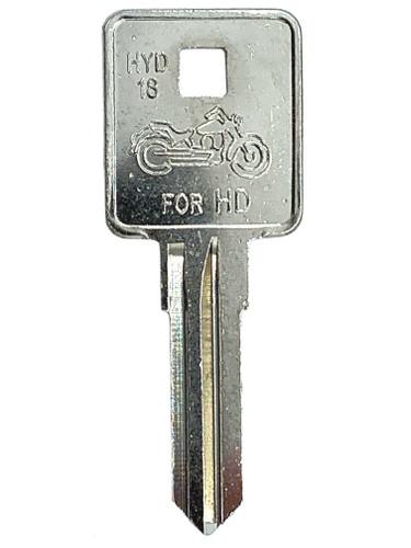 Key Blank, HYD18-NP, For Harley Davidson