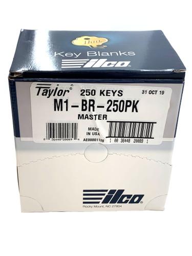 M1 Brass Key blank, Ilco M1-BR-250PK, 250/Box