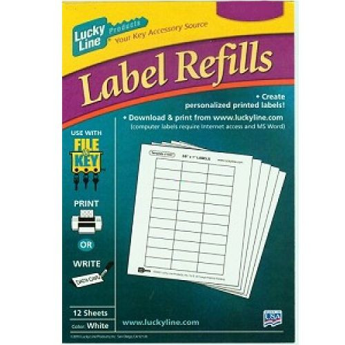 Labels for File-A-Key 12 Sheets, 19711 White