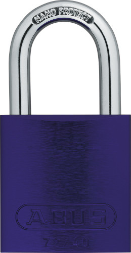 Abus 72/40 Purple Padlock, Factory Keyed