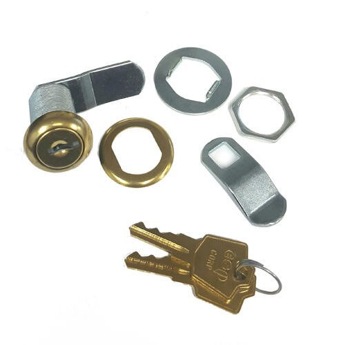 "ESP V125C8053 Polished Brass Cam Lock, 1-1/8"" Keyed Alike ES201"