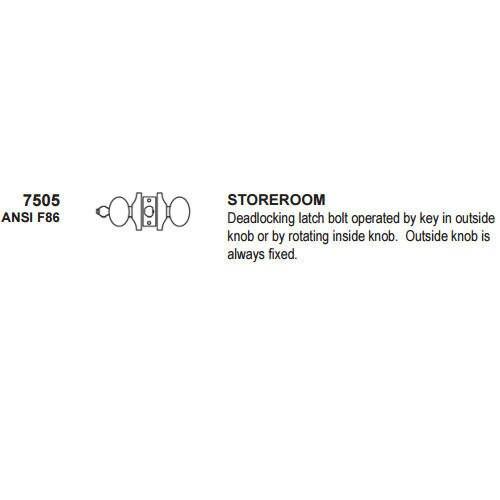 Cal-Royal 7505 Storeroom Lock, Stainless Steel 32D, Custom Keyed