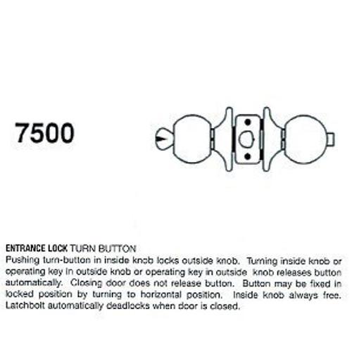 Cal-Royal 7500 Entry Lock, Stainless Steel 32D, Keyed Alike (2-Pack)