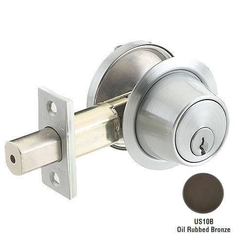 Cal-Royal CB160-10B Dark Bronze Single Cylinder Deadbolt, Custom Keyed