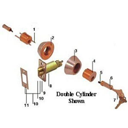 Cal-Royal GL220 26D Brushed Chrome Single Cylinder Gate Deadlatch, Custom Keyed