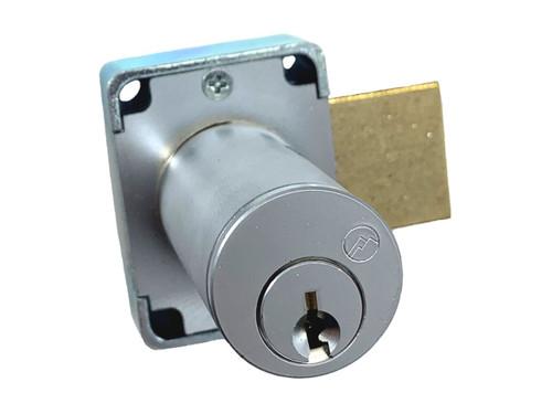 Olympus 100DR 7/8 Desk Lock, Brushed Chrome/26D, Factory Keyed