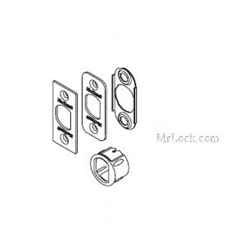 Kwikset 81845 Springlatch Faceplate Kit, Dark Bronze/US10B