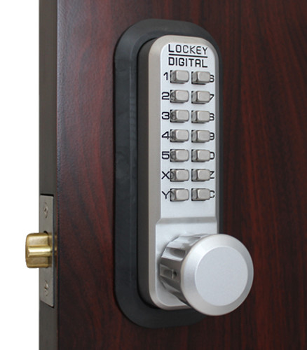 Lockey USA 2830SC Pushbutton Lock, Adjustable Deadlatch
