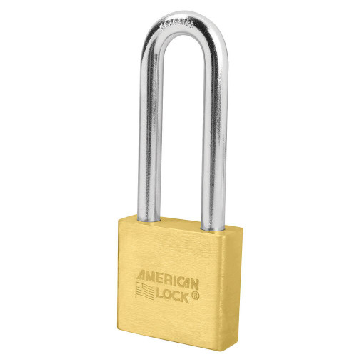 American Lock A5572 Brass Body Padlock, Factory Keyed