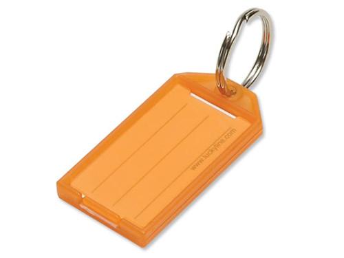 Lucky Line 60400-50 Orange Key Tag with Split Ring 100/Box