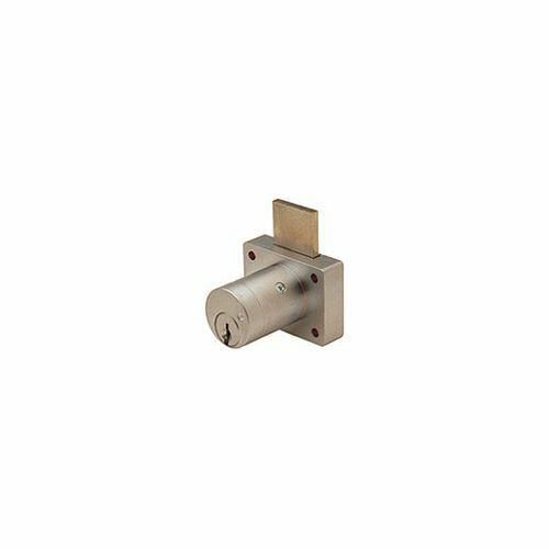 "Olympus Lock 800SC Desk Lock, Brushed Chrome/26D, 1-1/8"", Custom Keyed"