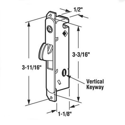 Slide-Co 15410 Sliding Patio Door Lock Mechanism