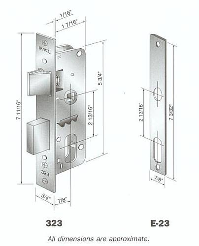 Papaiz MZ33 Mortise Lock Complete US26, Double Cylinder Polished Chrome