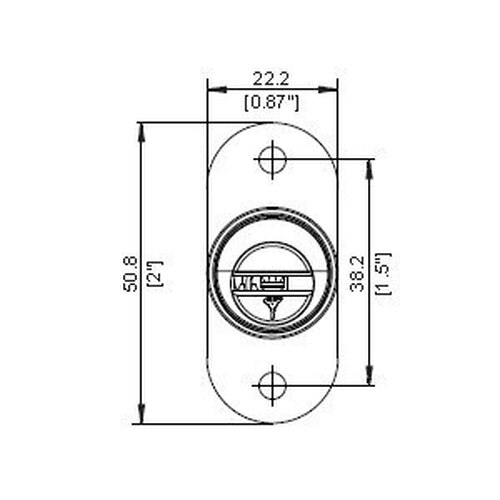Mul-T-Lock 206S-Plunger-26D Plunger Lock 26D, Keyed Alike