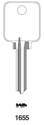 Ilco 1655 Key Blank, For Medeco