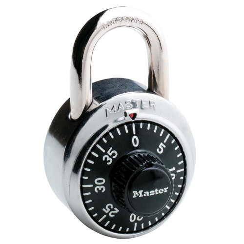 Master Lock 1500KA Padlock, Combination Black Dial Factory Order