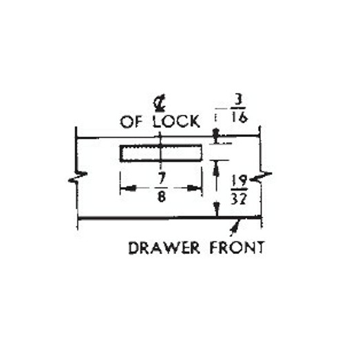 "CompX National C8701 Drawer Lock, 19/32"", Keyed Alike"