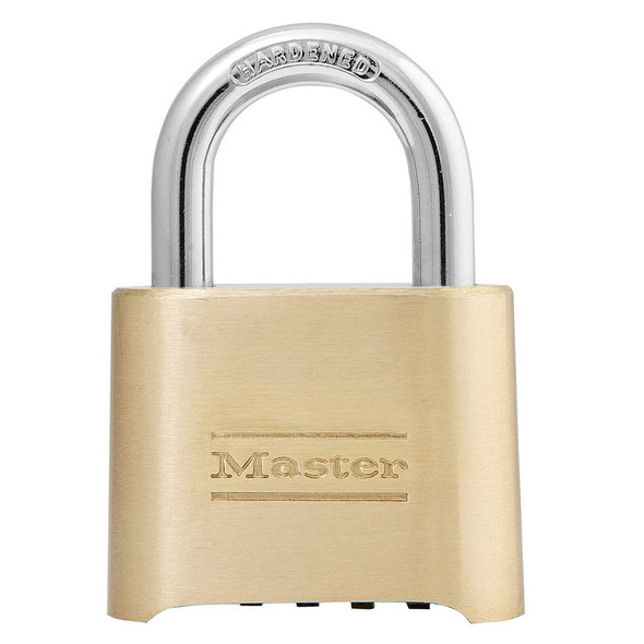 Master Lock 175D Padlock, Brass Body Combination (Display Pack)