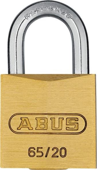 Abus 65/20 KA 202 Small 20mm Brass Body Padlock, Keyed Alike 202