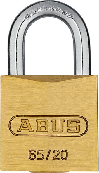 Abus 65/20 KA 203 Small 20mm Brass Body Padlock, Keyed Alike 203