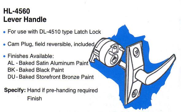 International HL4560 AL Lever Handle