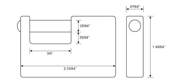 Abus 82/63 Monoblock Padlock, Keyed Alike 8501