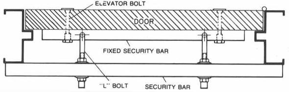 """Exit Security Bar SB-01-0036, for 36"""" Door"""