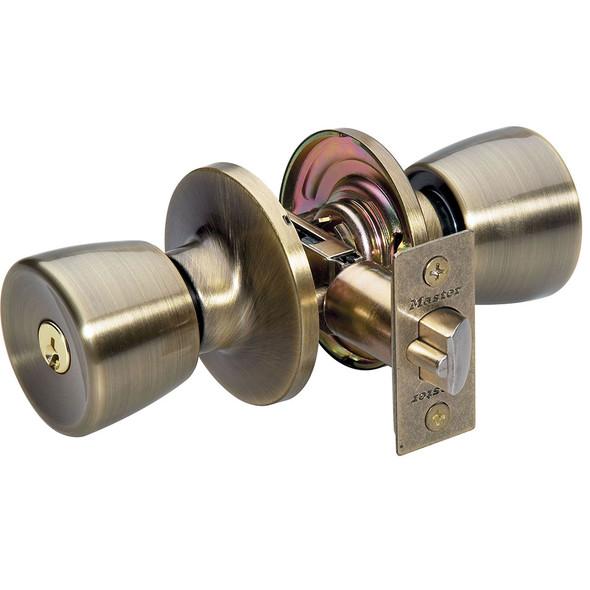 Master Lock TUO0105 Entry Lock, Antique Brass Tulip, Keyed Different
