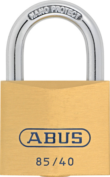 Abus 85/40 KD Brass Body Padlock, Keyed Different