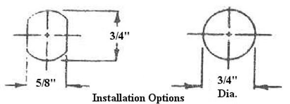 "LSDA UTCL78 KD Tubular Cam Lock 7/8"" Keyed Different"