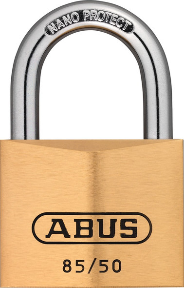 Abus 85/50 KD Brass Body Padlock, Keyed Different