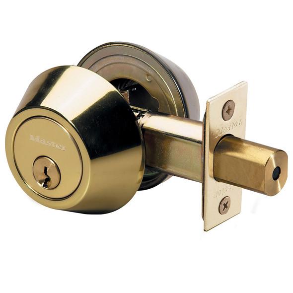 Master Lock DSO0703 Deadbolt, D/C Bright Brass, Keyed Different