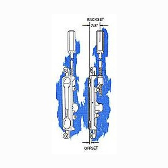 Flush Bolt, 1/8in Offset FB-1202 AL 28695 Mr Lock, Inc.