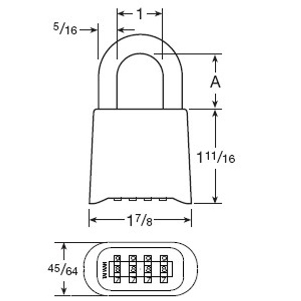 CCL Sesamee K0436 Padlock, Resettable Combination Marine Brass