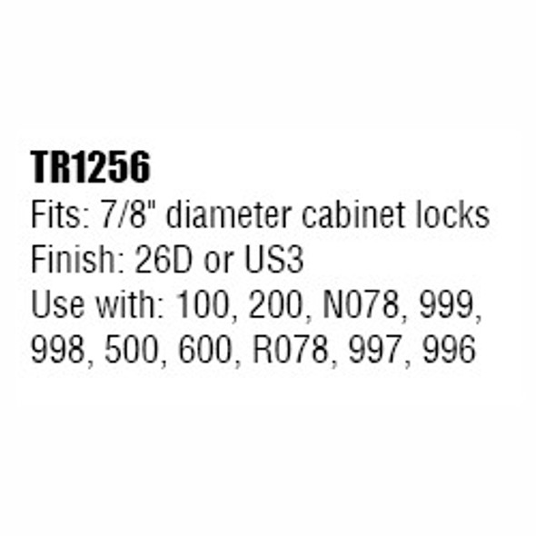 """Trim Ring, 7/8"""" Mounting Hole, Olympus TR1256 26D"""