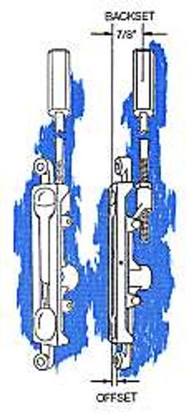 Flush Bolt, 1/8in Offset FB-1202 Duro 28699 Mr Lock, Inc.