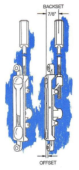 Flush Bolt, 1/8in Offset FB-1202 Duro