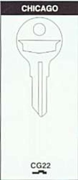 Key blank, for Chicago 1041E