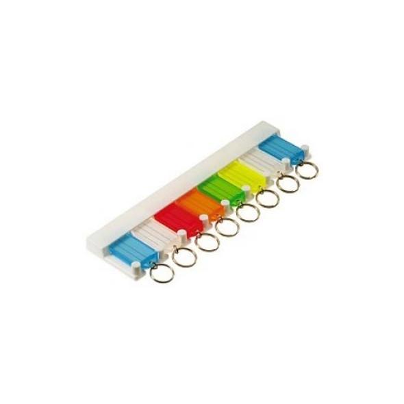Key Tag Rack, W/8 Asst Tags