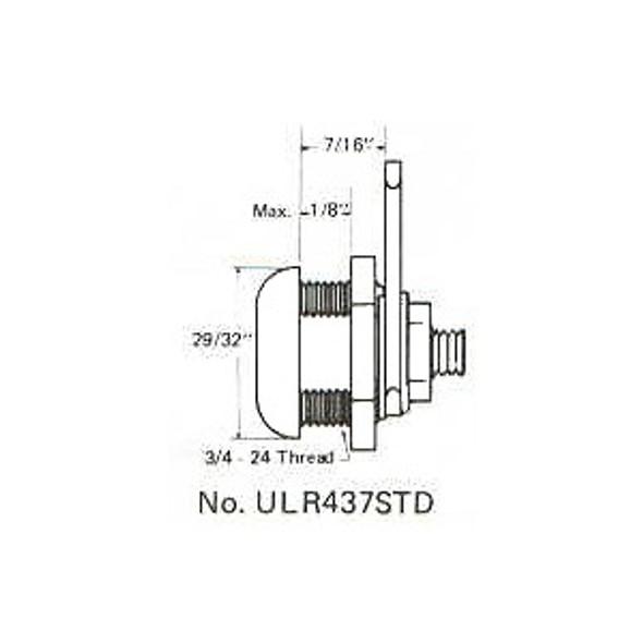 """ESP ULR-437STD KA ES201 7/16"""" Cam Lock, Keyed Alike ES201"""