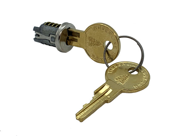 Compx Timberline Key Plug, Polished Nickel C100LP-KD-14A