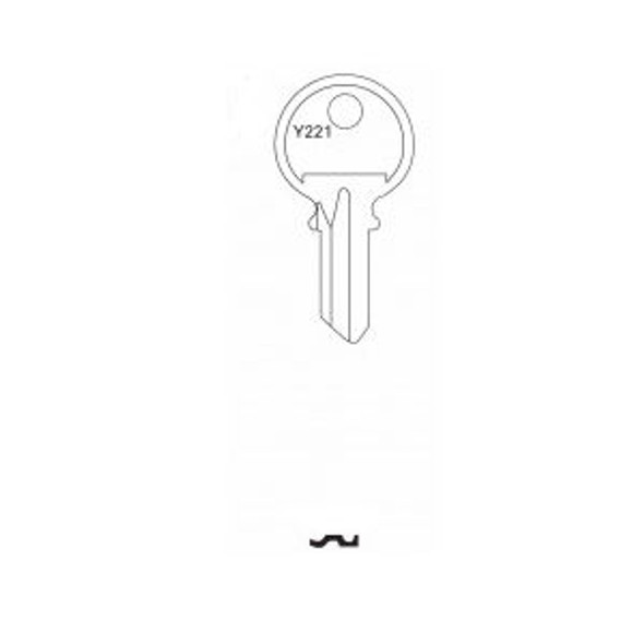 Key blank, Jet Y221 3-Pin for Yale