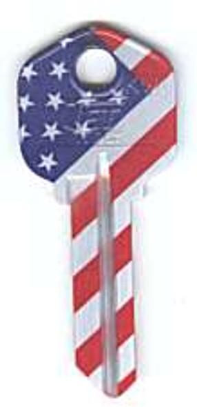 Key blank, Groovy KW1 Betsy Ross