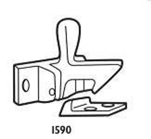 Don-Jo 1590 605 Elbow Catch for Cabinet Door