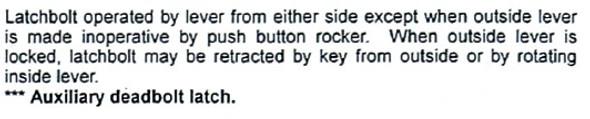 Mortise Lock, M8050 SE 26D Office Function