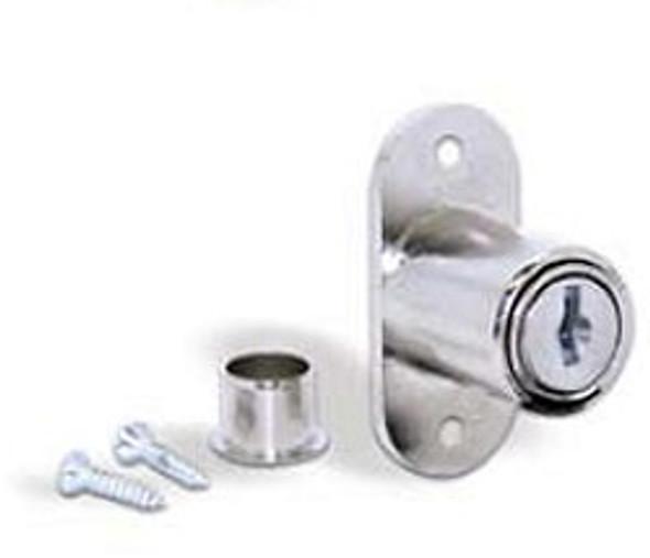 ESP ULR-1030FM KD Showcase/Slide/Plunger Lock, Nickel Finish, Keyed Different/Random